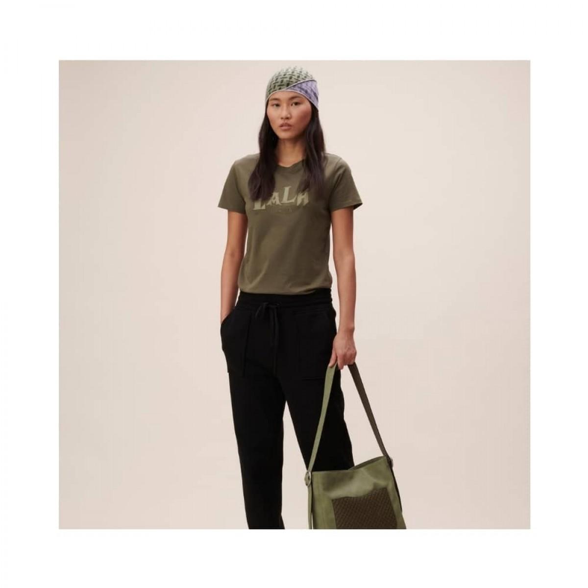 t-shirt reda lala mix - olive night - model front