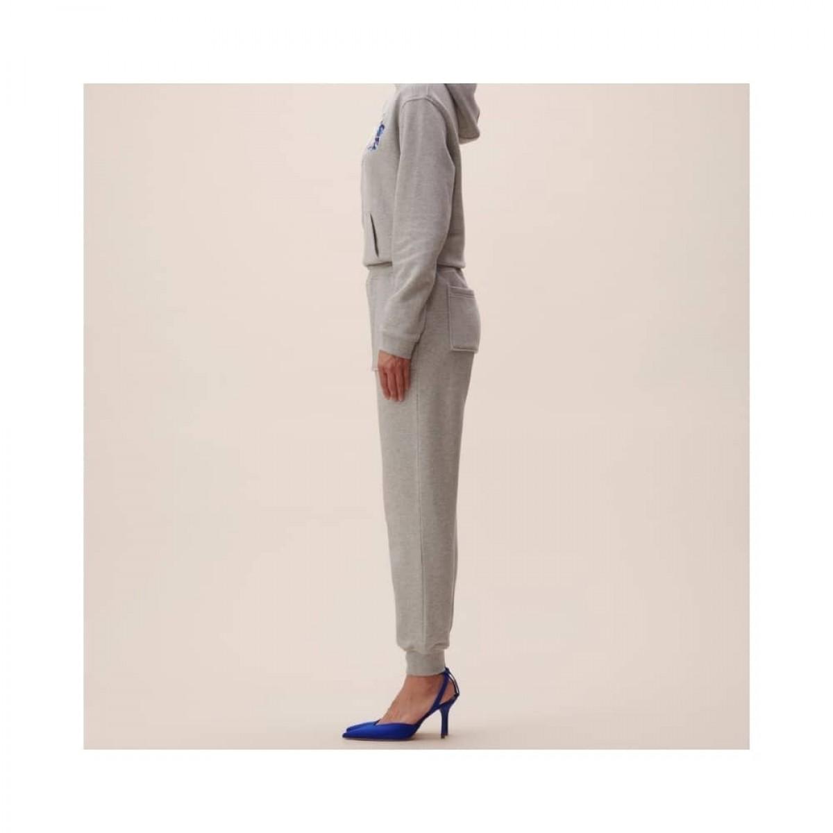 phine sweatpants - grey melange - model fra siden