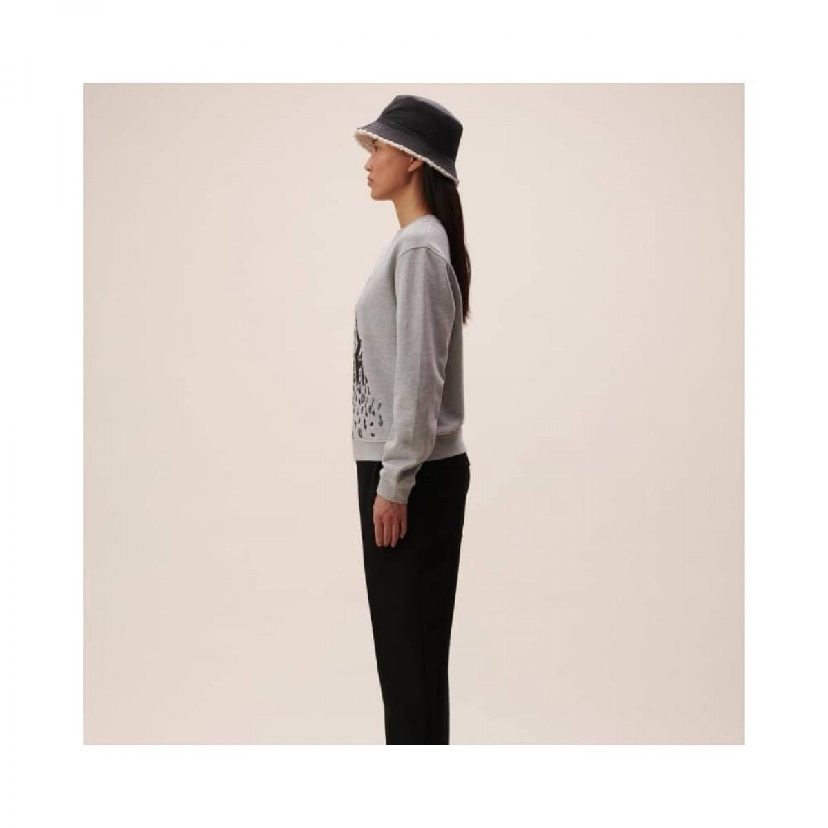 irya leo sweatshirt - grey melange - model fra siden