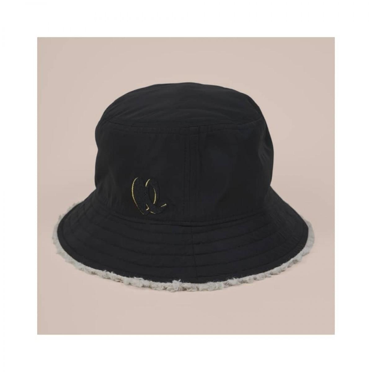 hat alicia reversible - black - front black