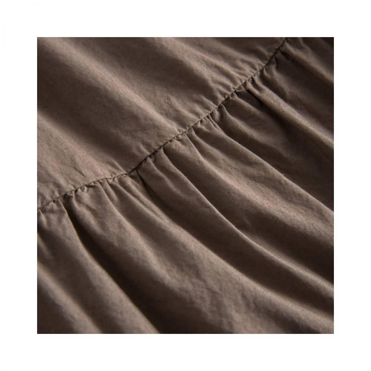 paprika nederdel - brown - skæring detalje