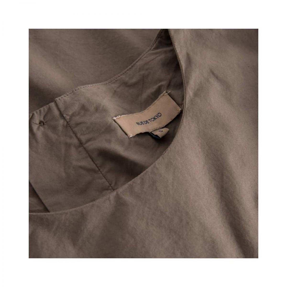 sada skjorte bluse - brown - hals detalje
