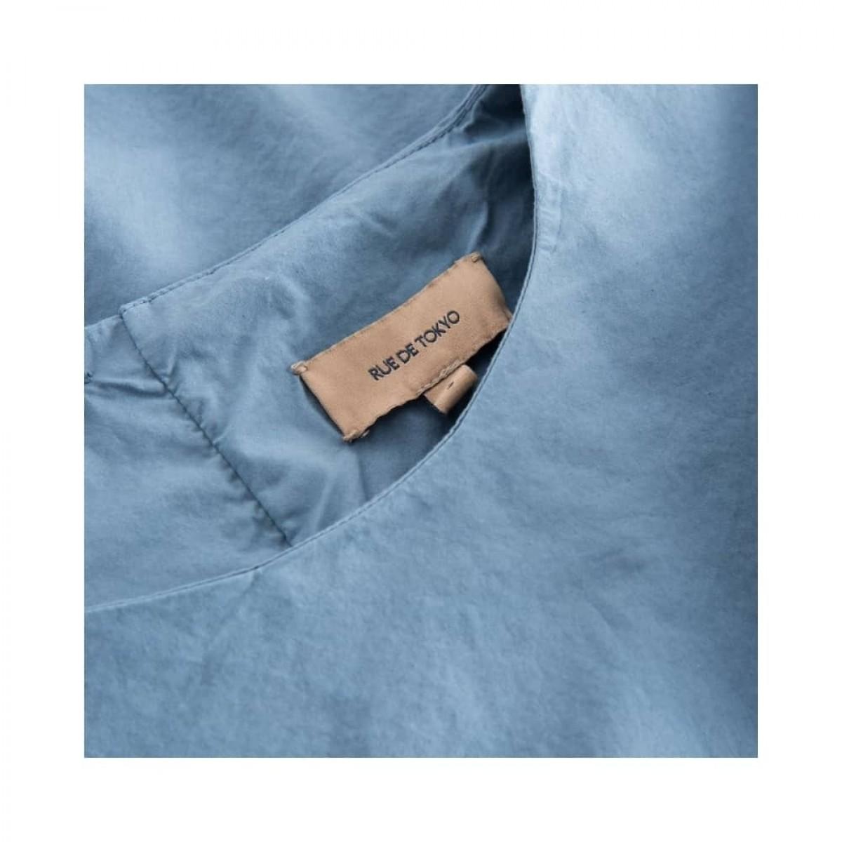 sada skjorte bluse - blue - hals detalje
