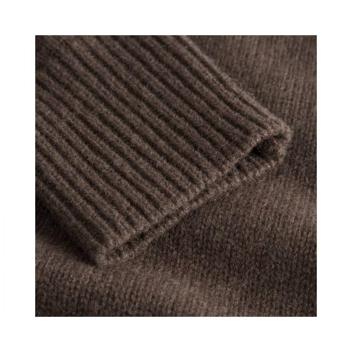 manny pullover - dark brown - rib