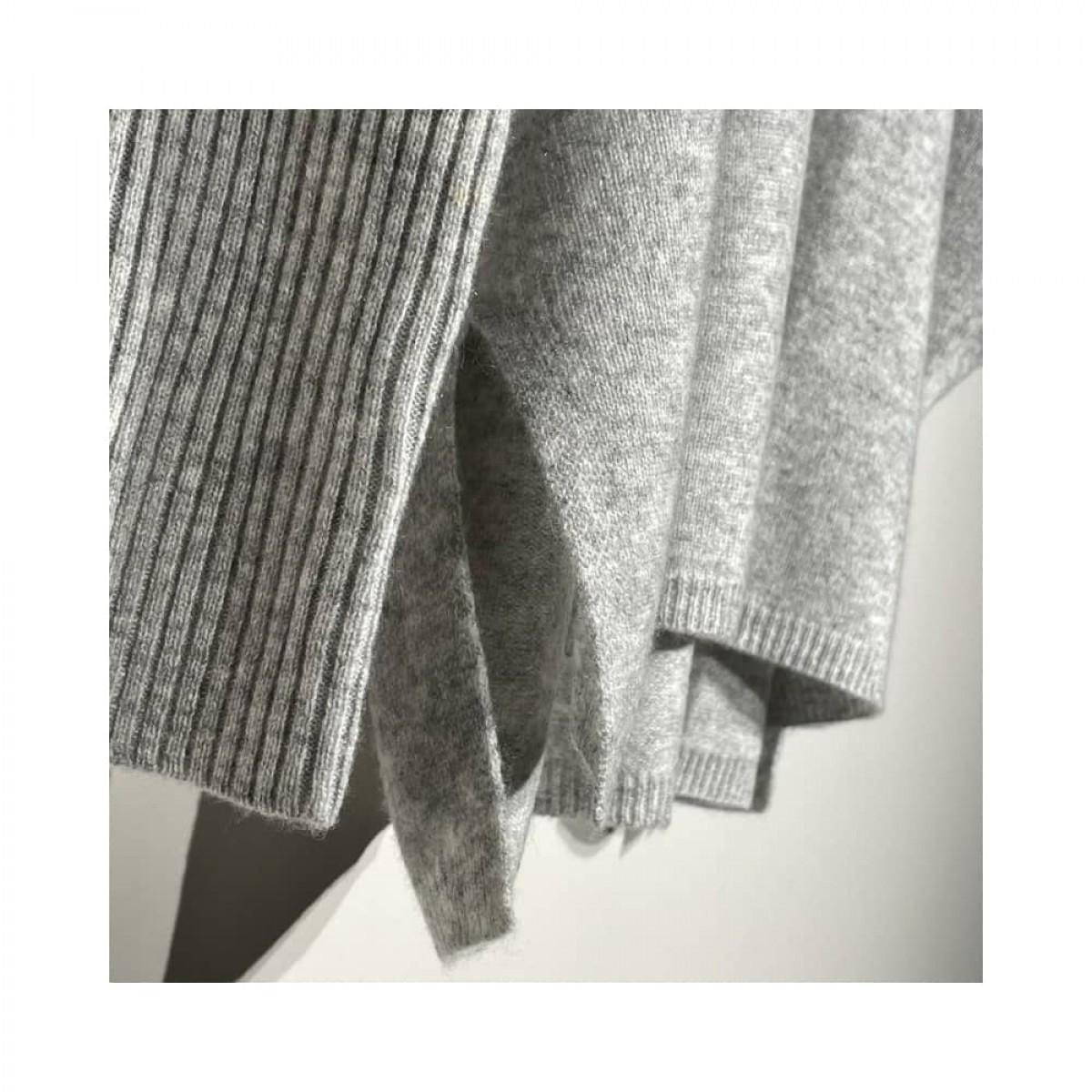 agnes strik - light grey melange - slids detalje