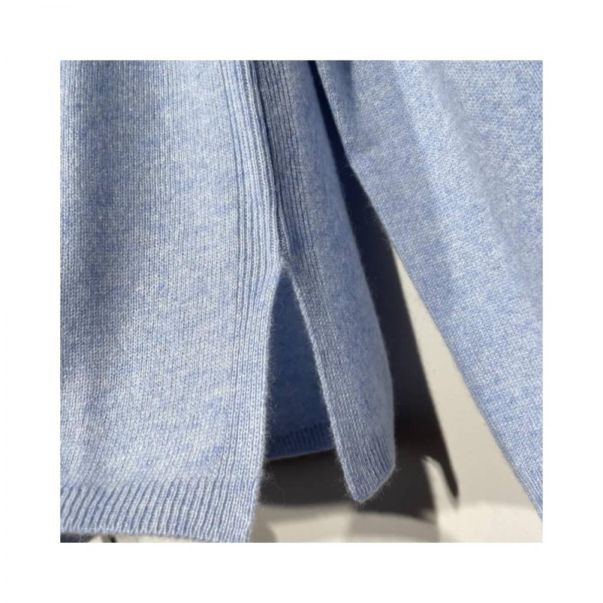 becka strik - light blue melange - slids i bund
