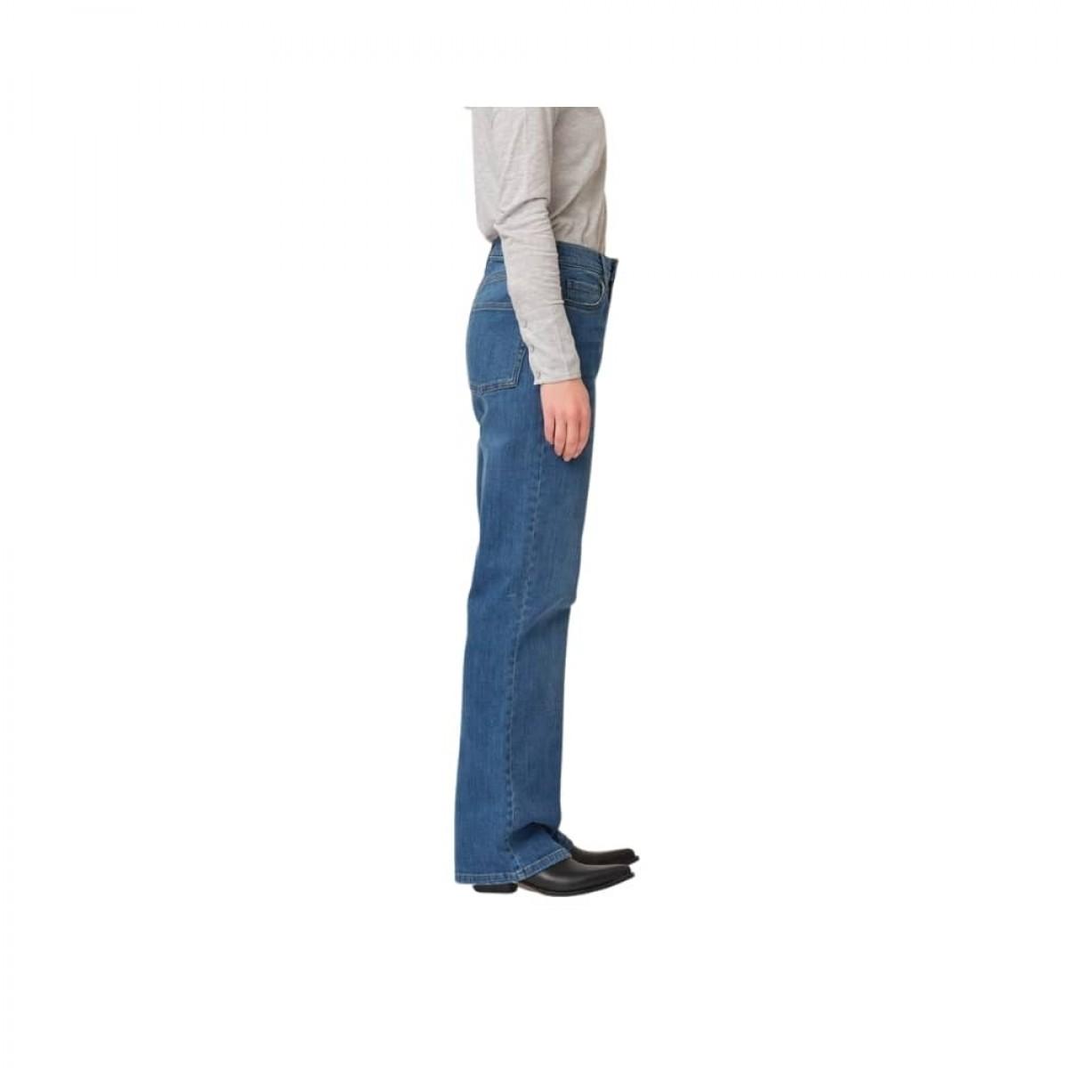 brown straight jeans - prato - denim blue - model fra siden