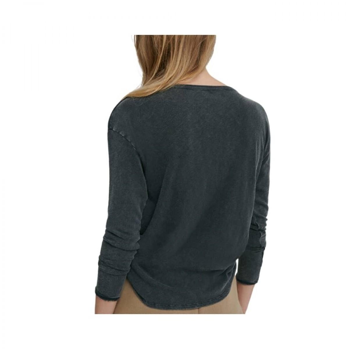 sonoma grandad bluse - vintage black - model fra ryggen