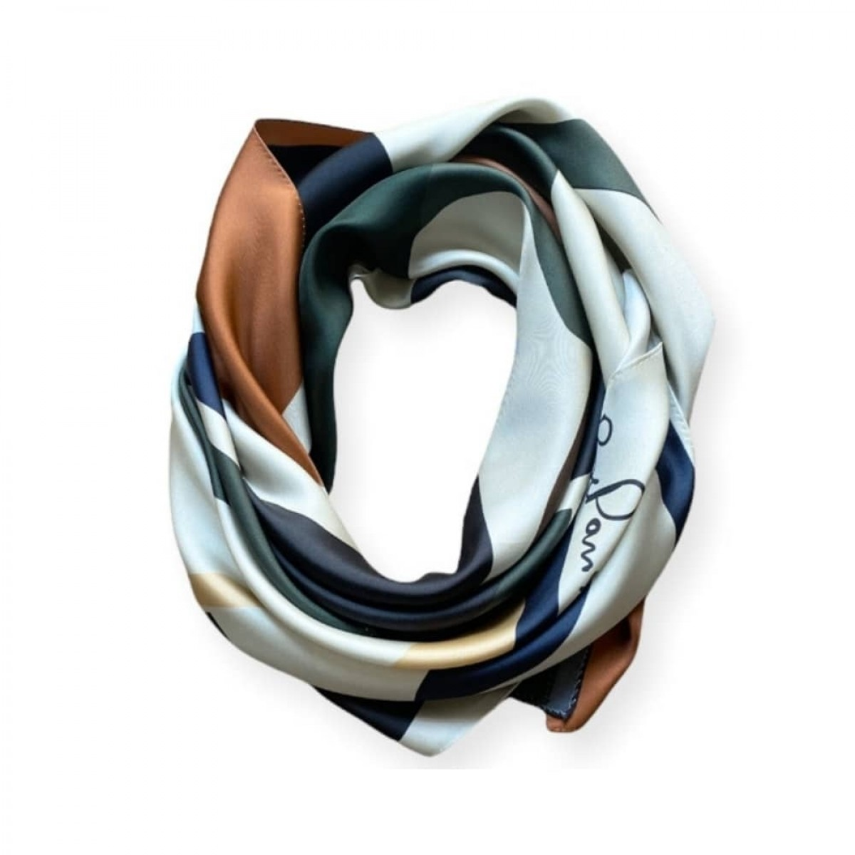 manrique silke tørklæde - kaki - detalje 3