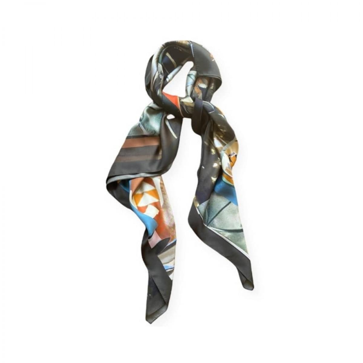icone silke tørklæde - plume doree - detalje 1