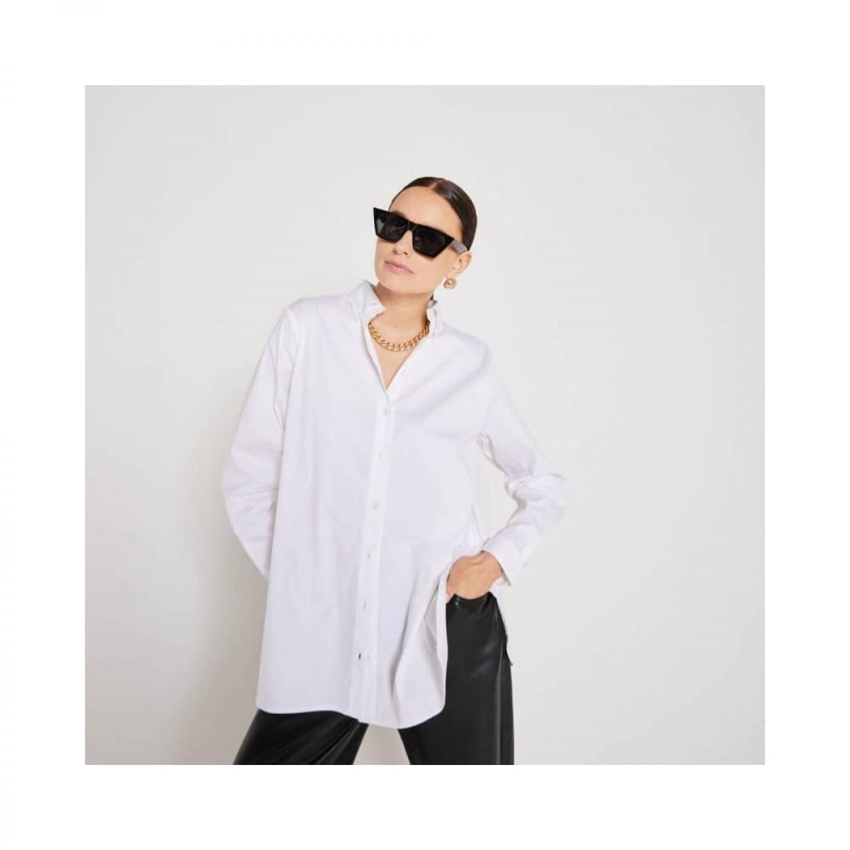 claudia skjorte - white - skjorte detalje