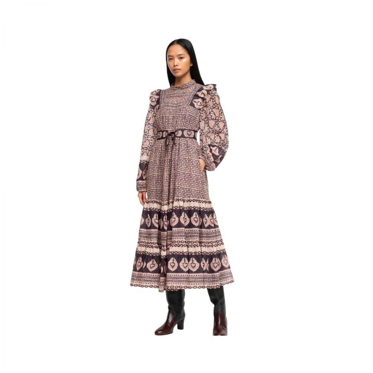 margo border dress - lilac