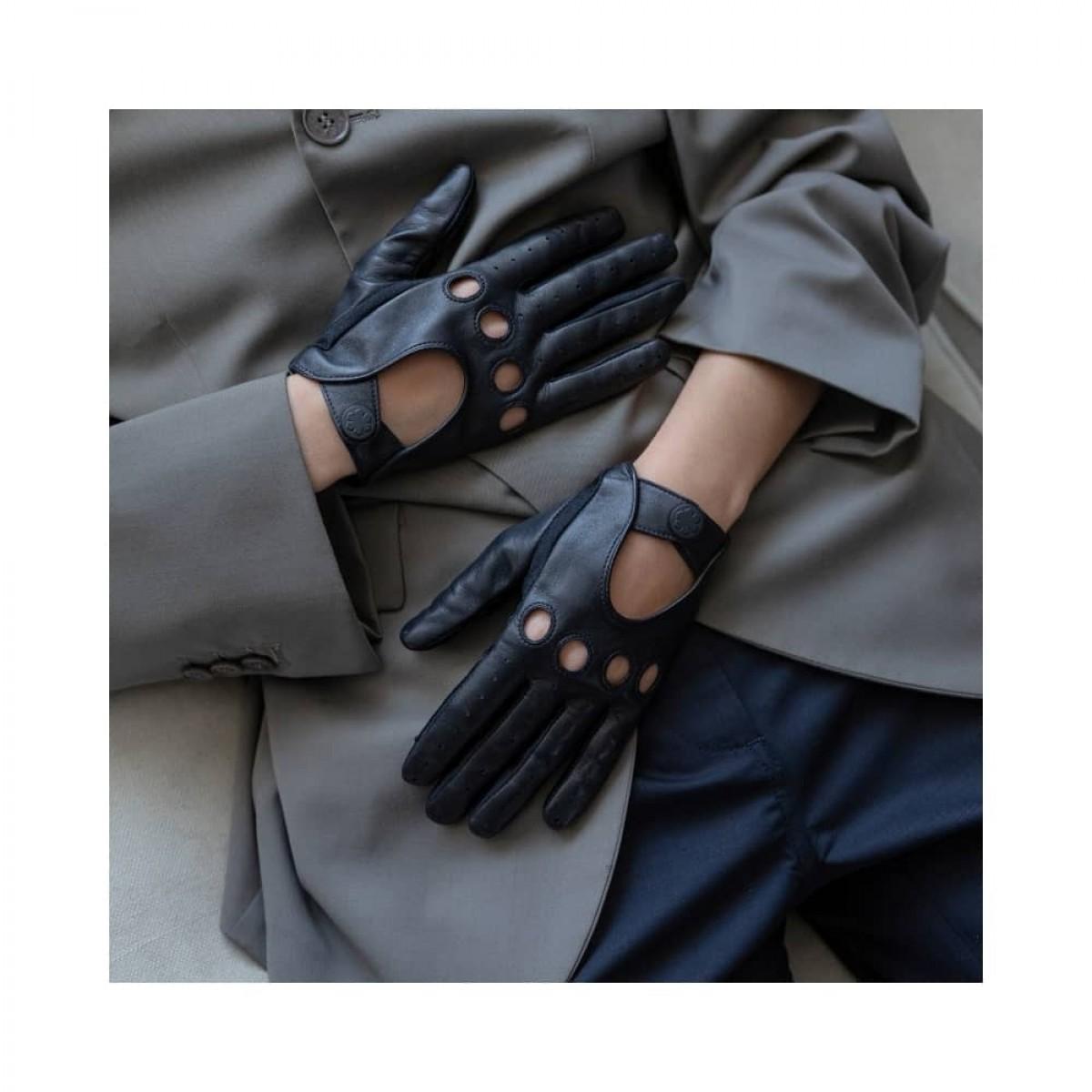 diana handske - dark navy - model front