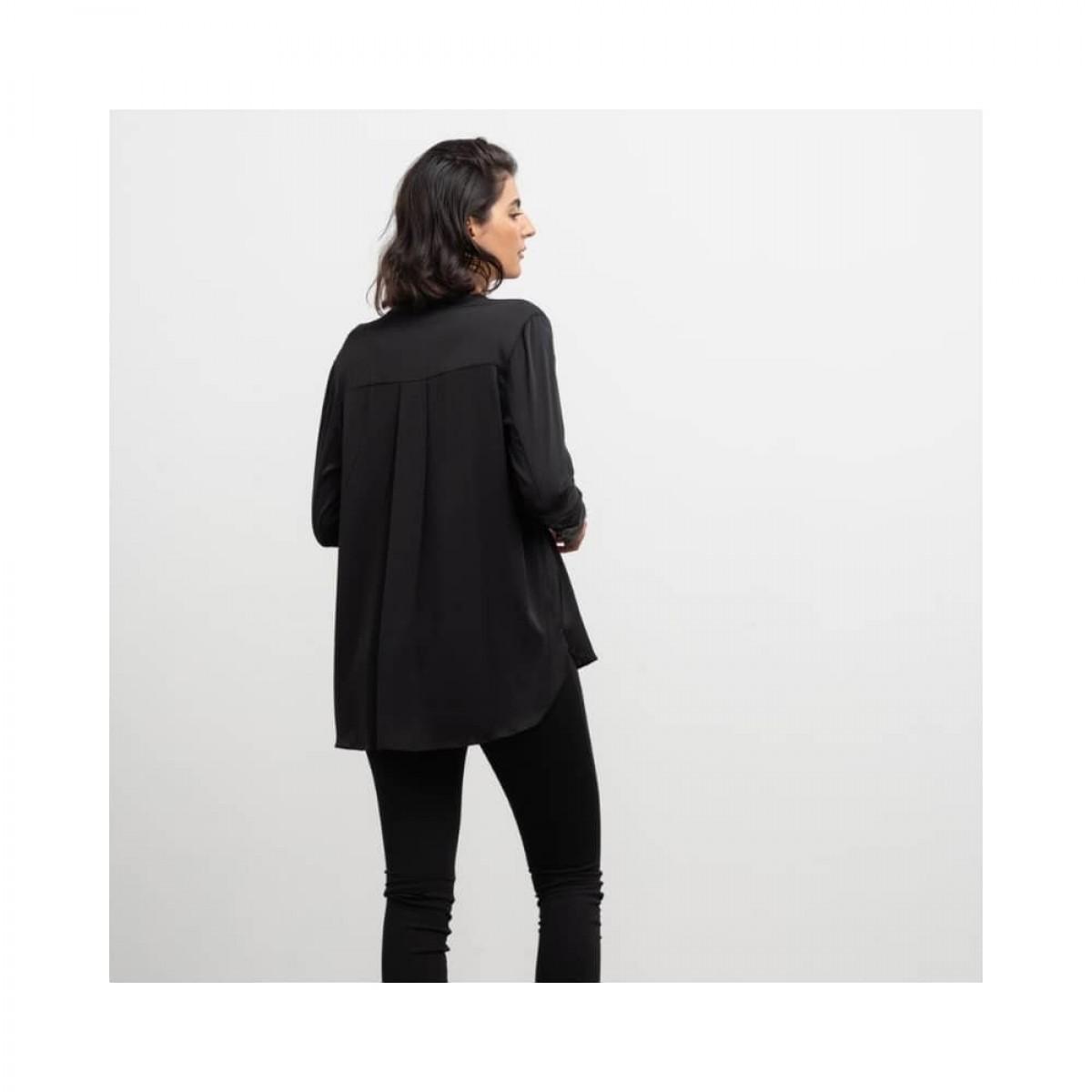 coco blouse - black - model ryggen