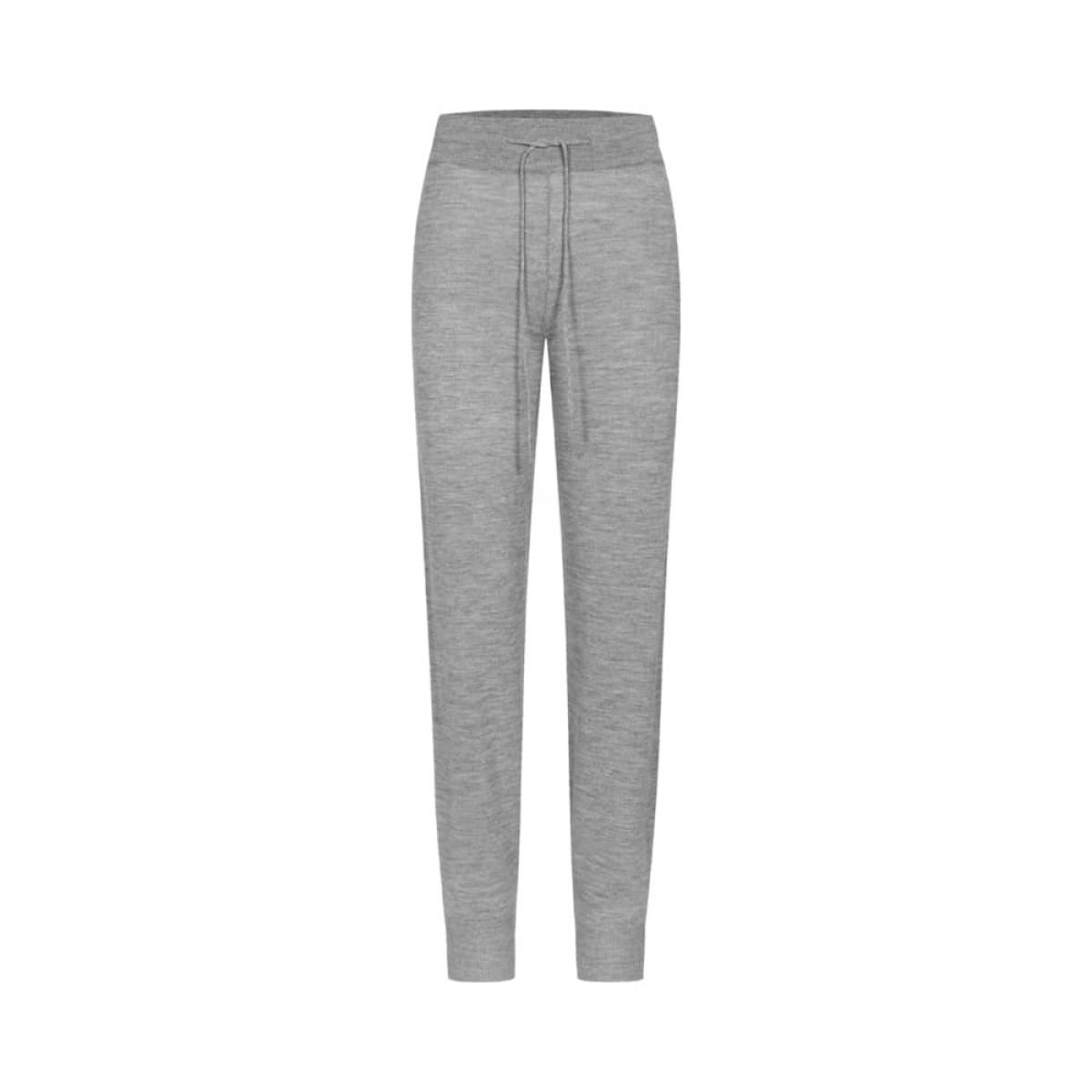 karina pants - grey melange - front