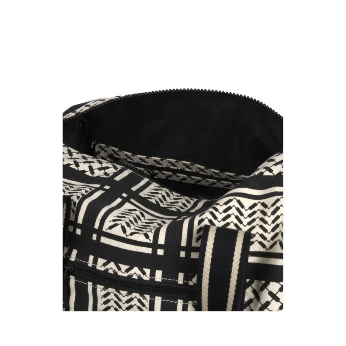 big bag muriel kufiya - off white/black - lille rum