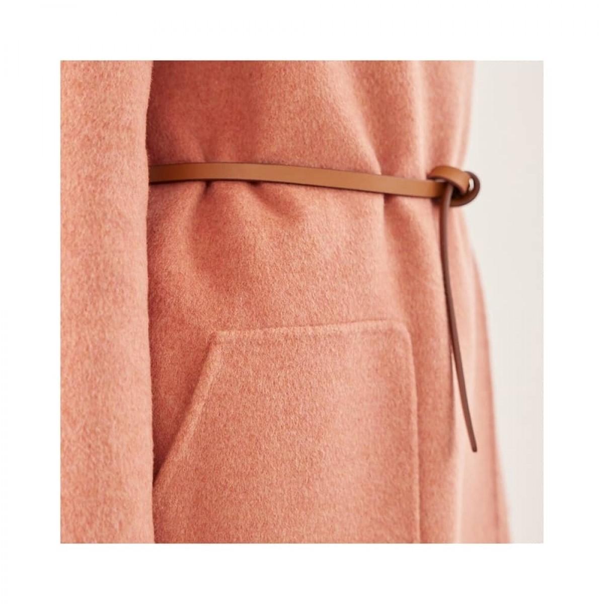 rino uld jakke - rose - bælte detalje