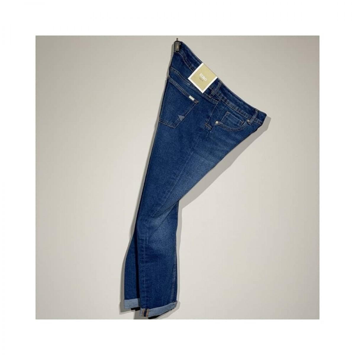 nina boyfriend jeans - blue - fra siden