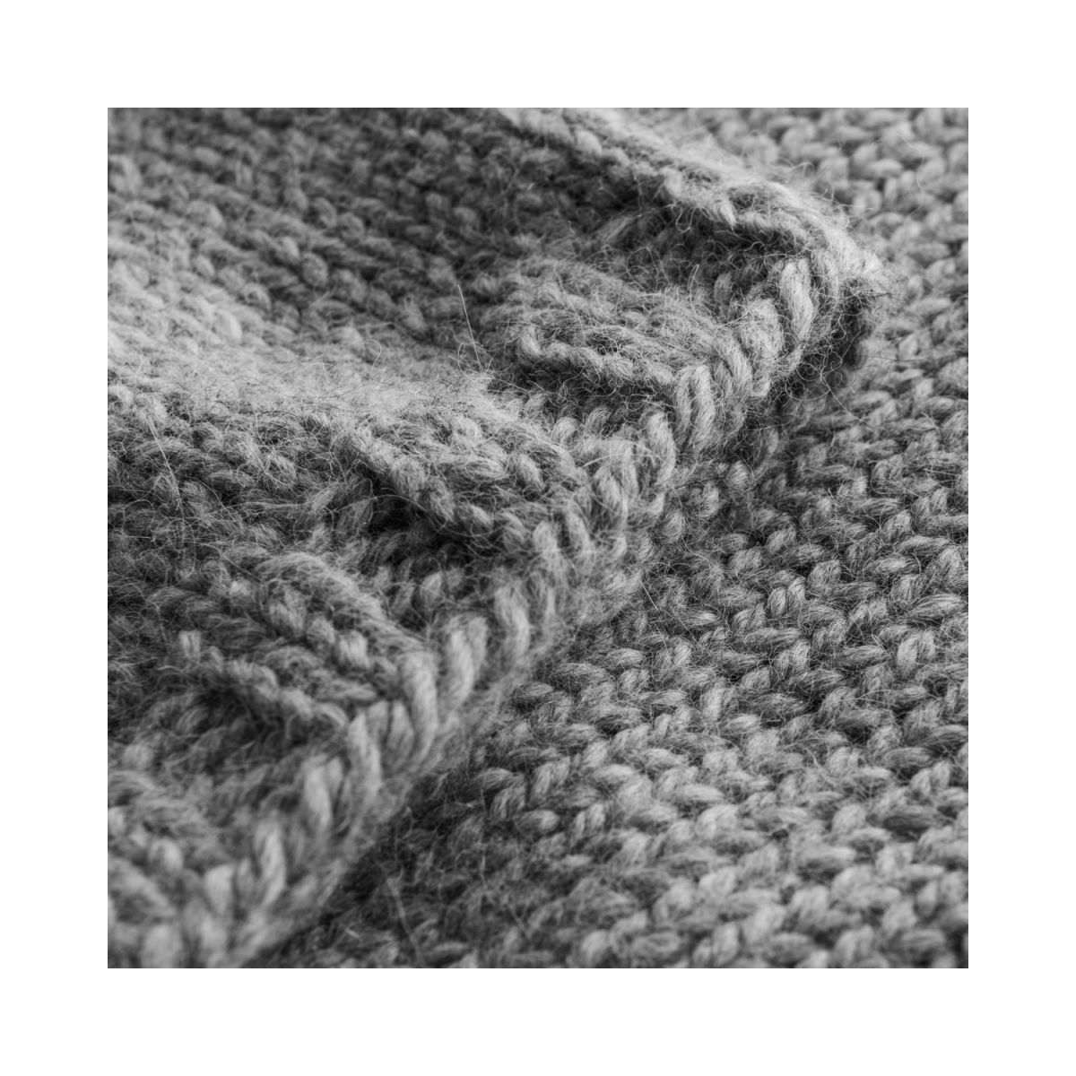 louise strik - grey melange - detalje ærme