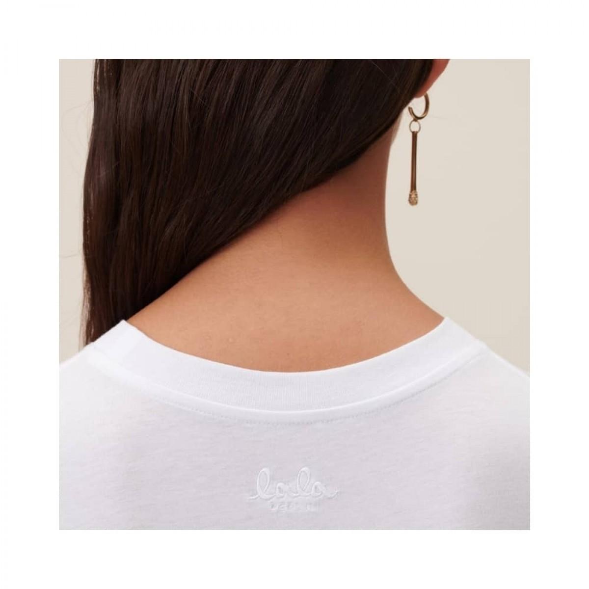 cara oasis t-shirt - white - logo