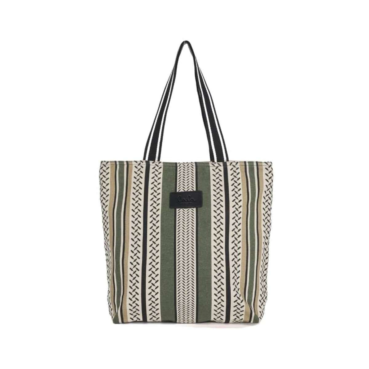 tote carmela colored - olive - front