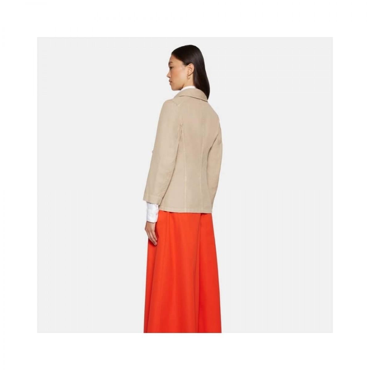 giacca donna jakke - beige - model ryg