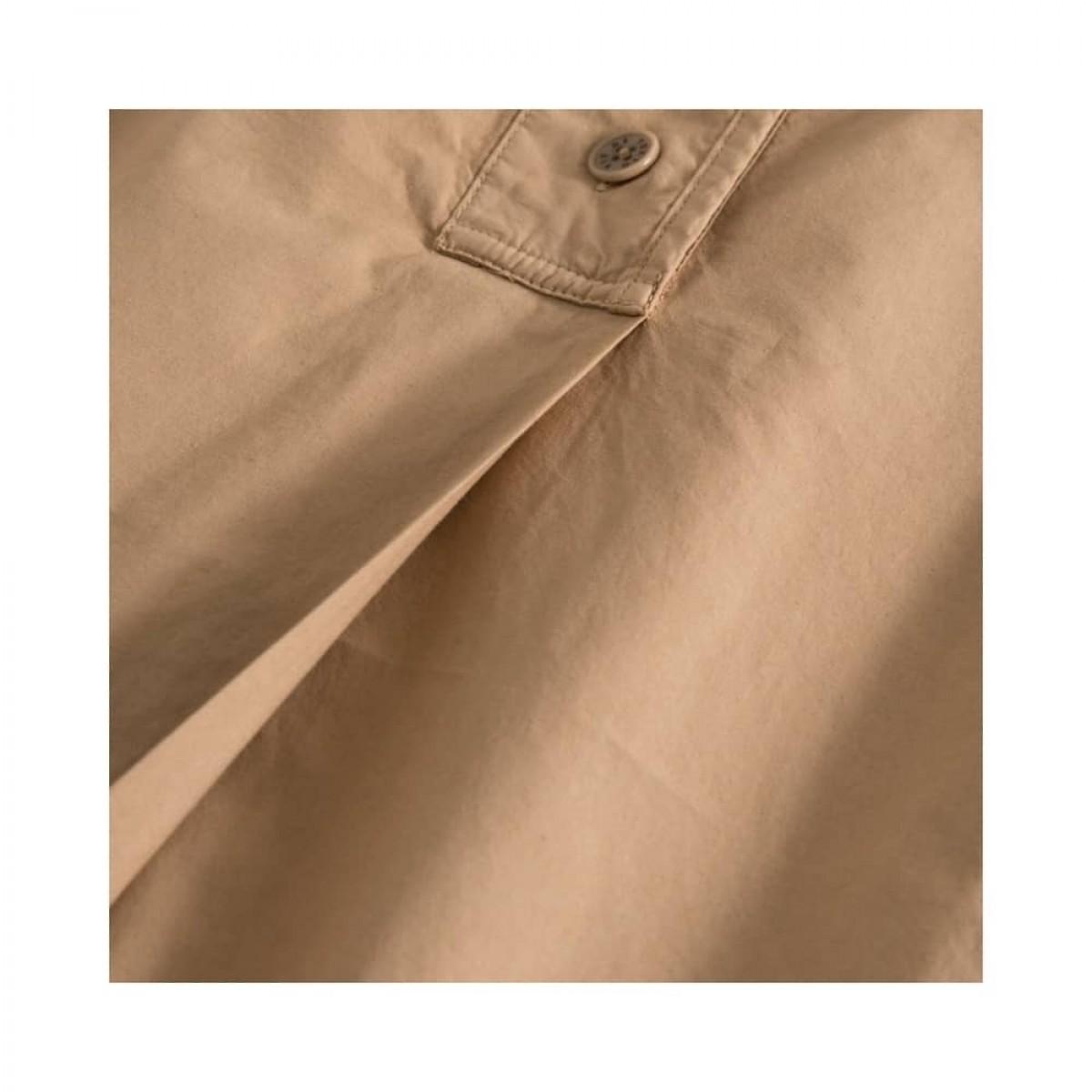 deluna kjole - light brown - læg detalje