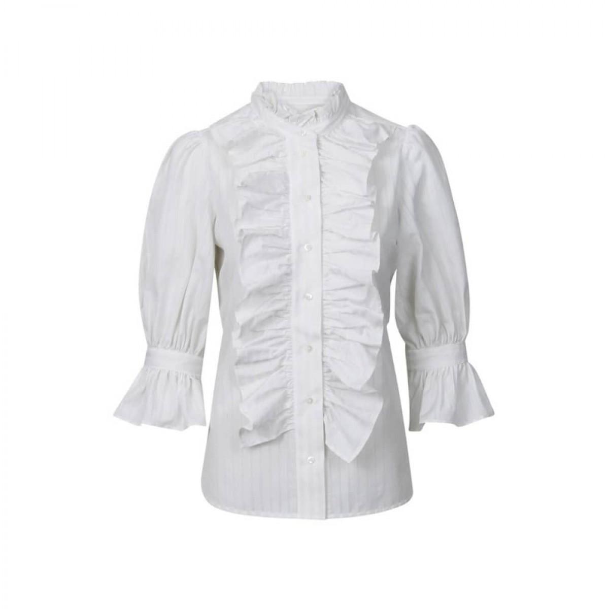 joanna skjorte - vanilla stripe - front