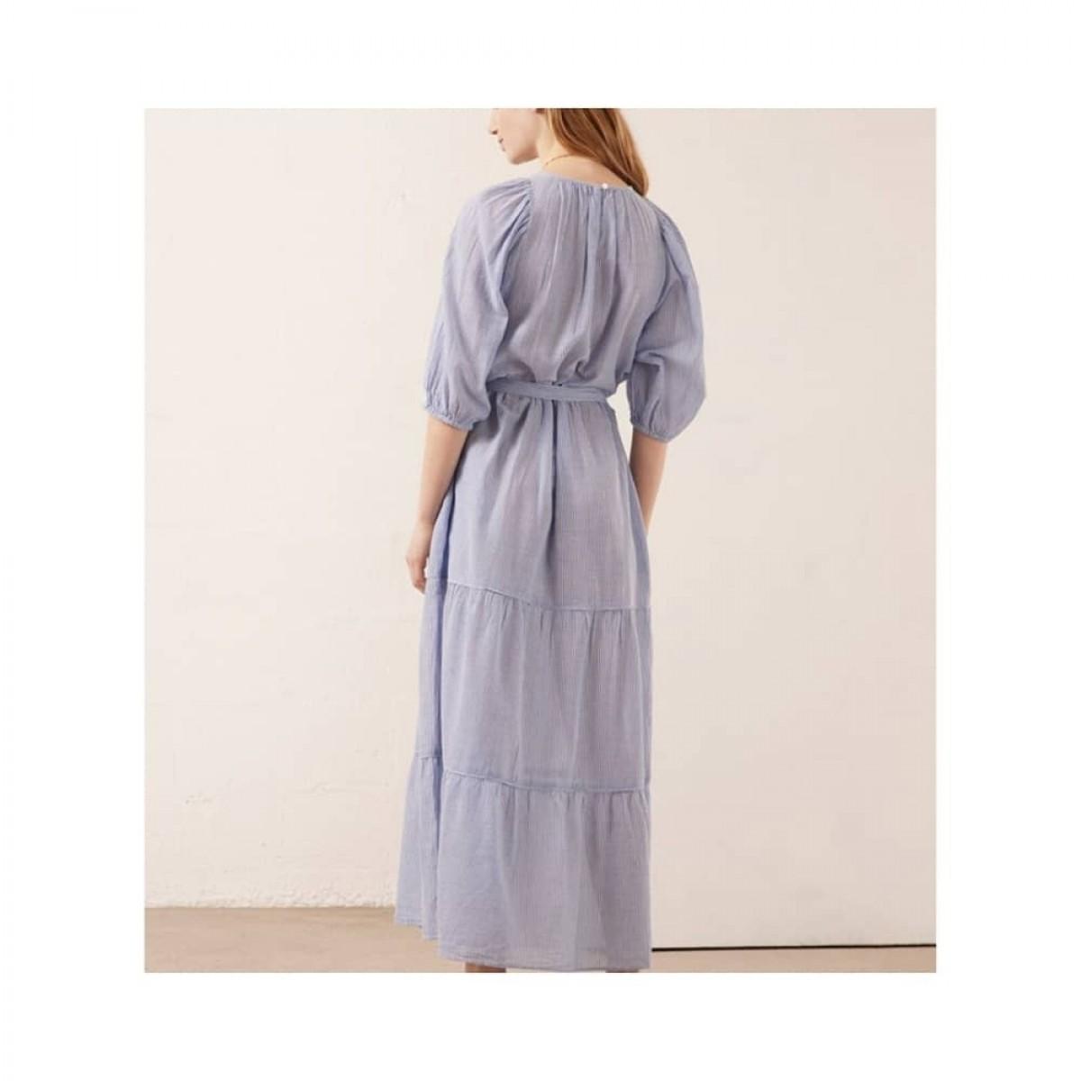 reinilda kjole - blue - model fra ryggen