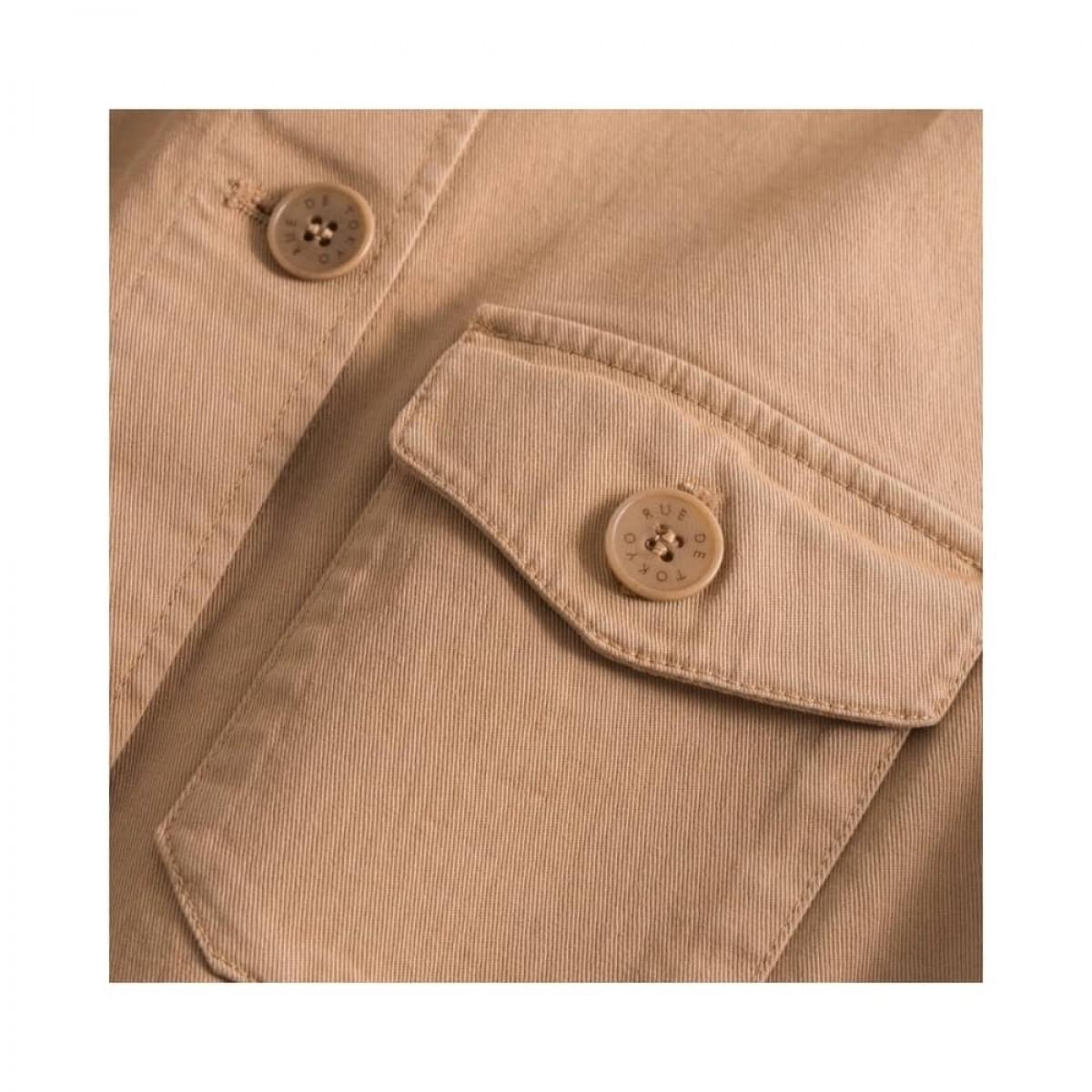 cady workwear jakke - light brown - lomme detalje