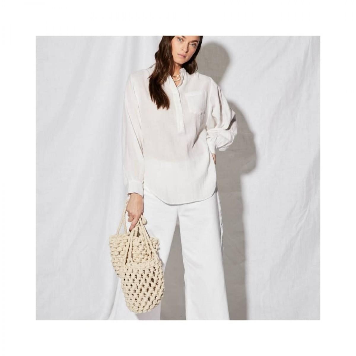 litonya skjorte - white