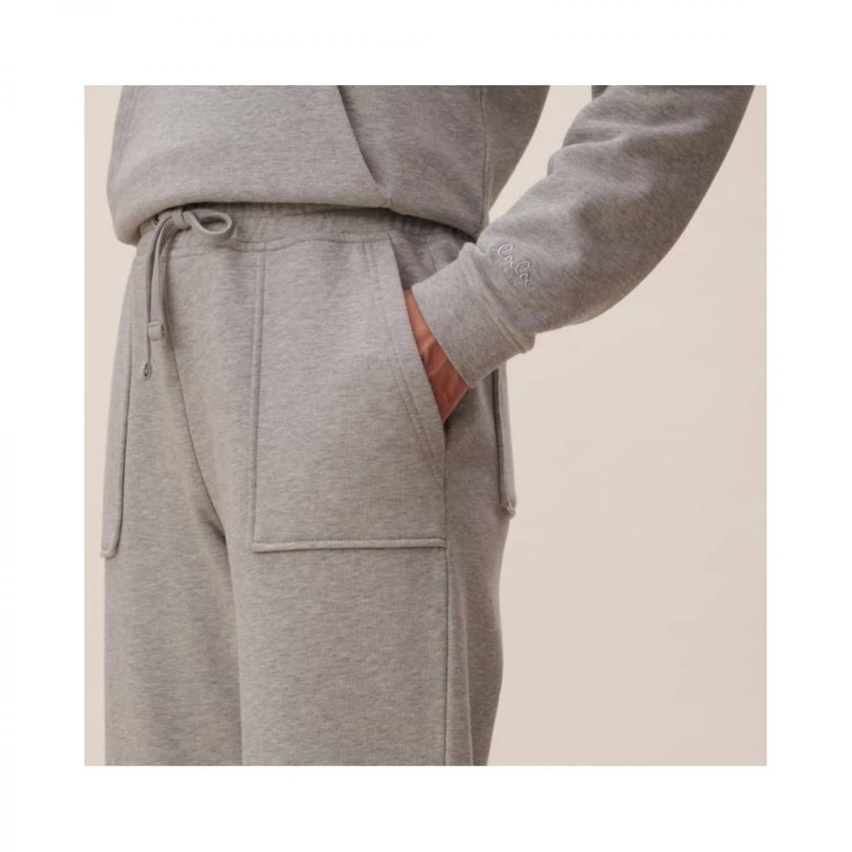 phine sweatpants - grey melange - model lomme