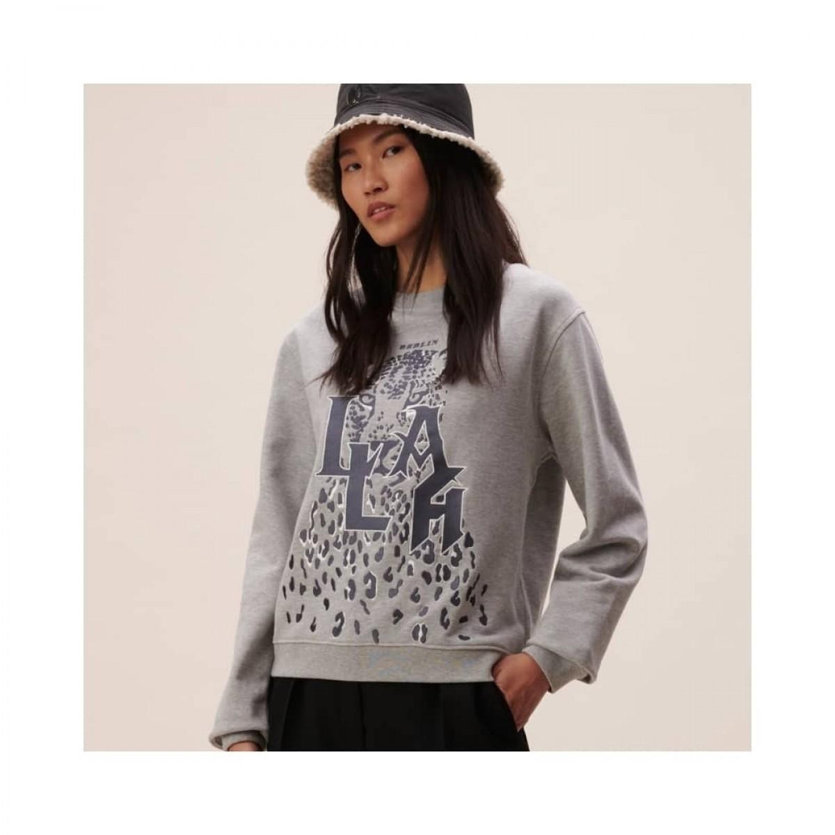irya leo sweatshirt - grey melange