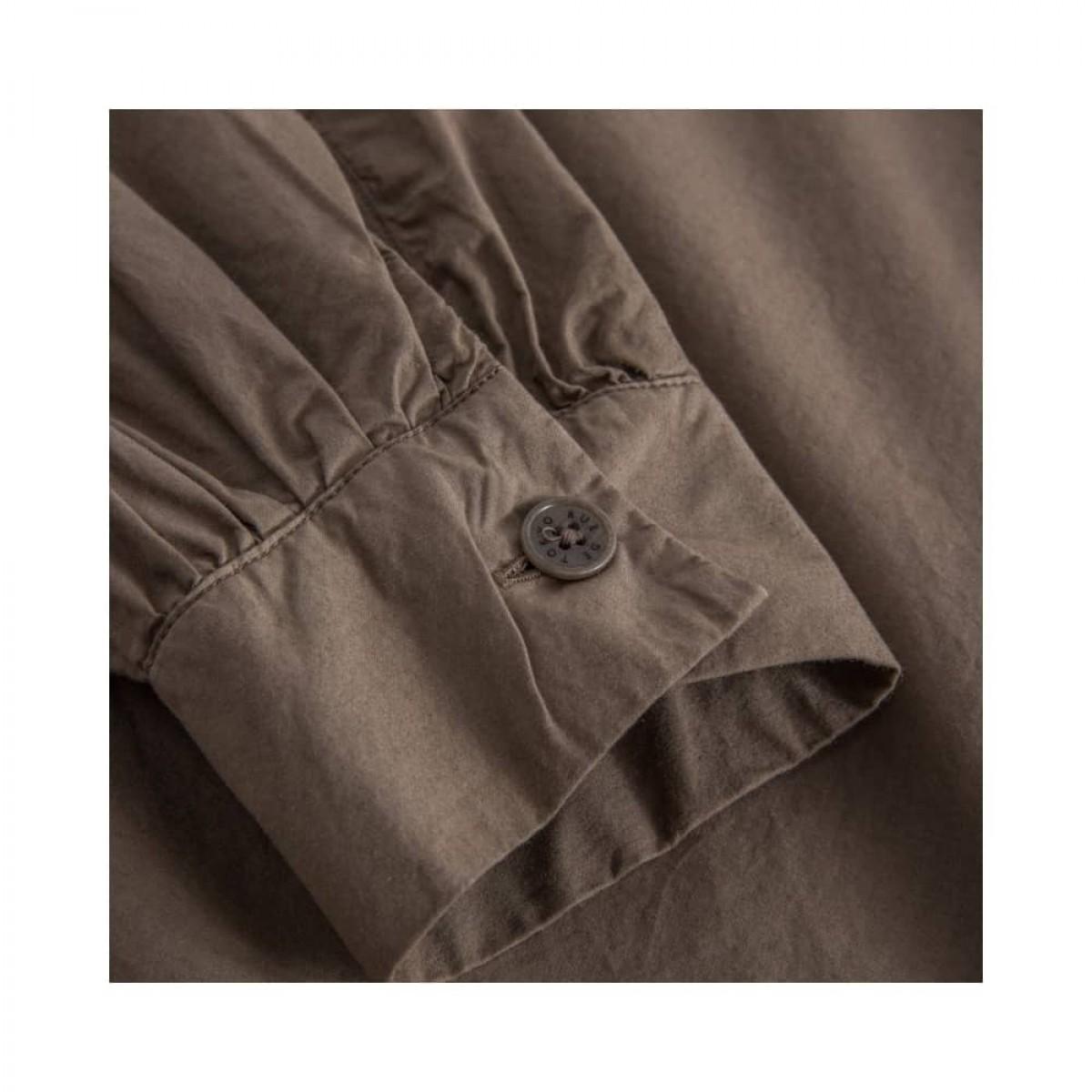 sada skjorte bluse - brown - ærme detalje