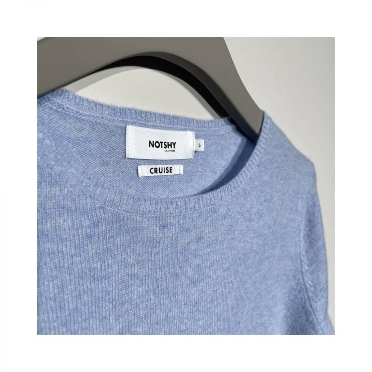 becka strik - light blue melange - brand logo