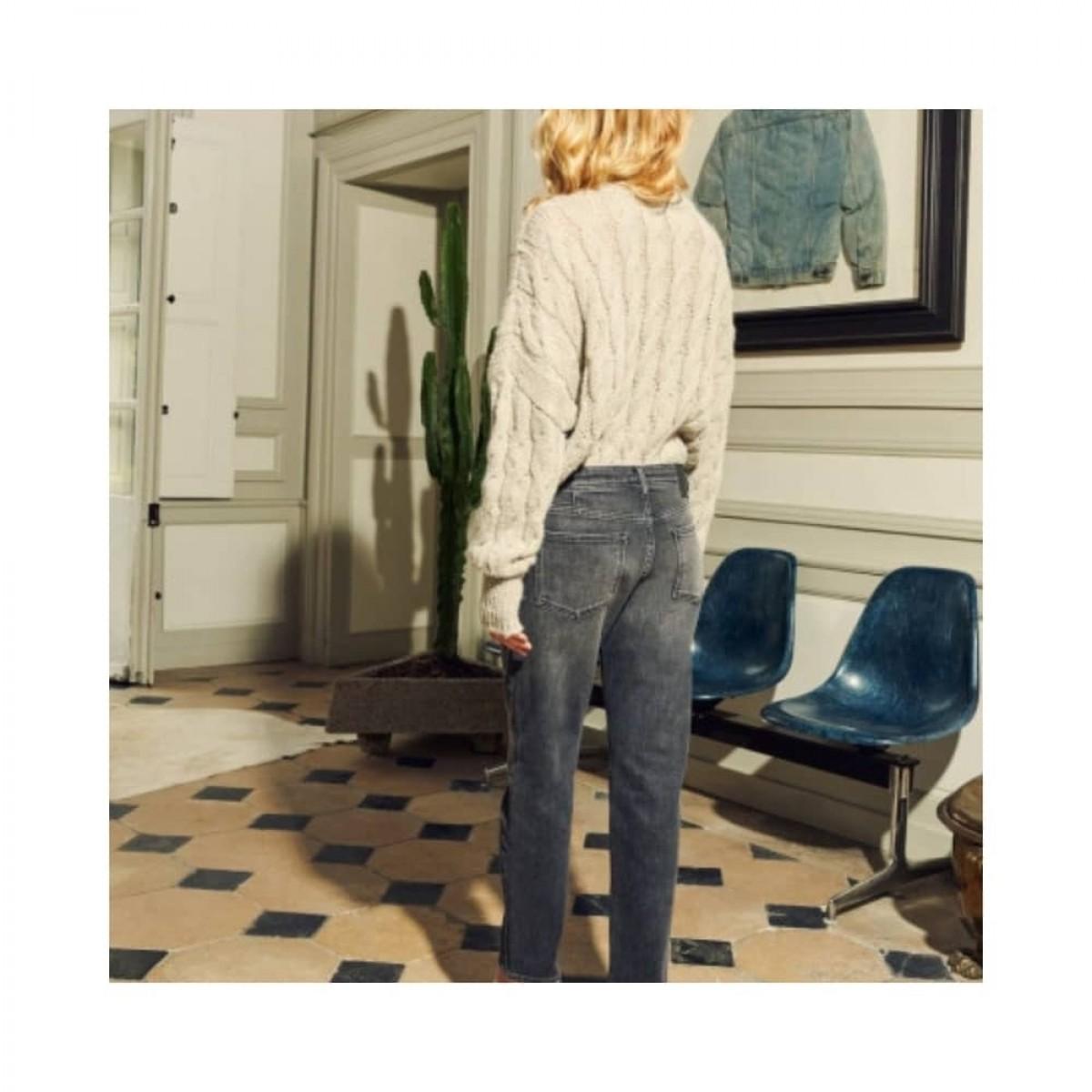 nina boyfriend jeans - grey - model bagfra