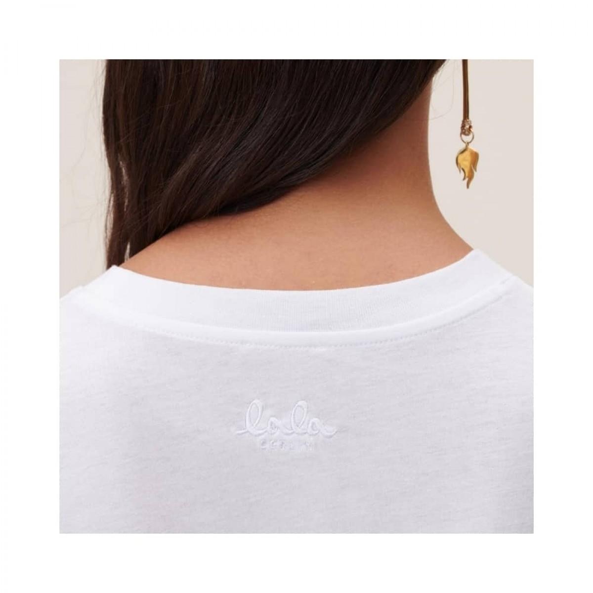 cara heart t-shirt - white - model logo ryg