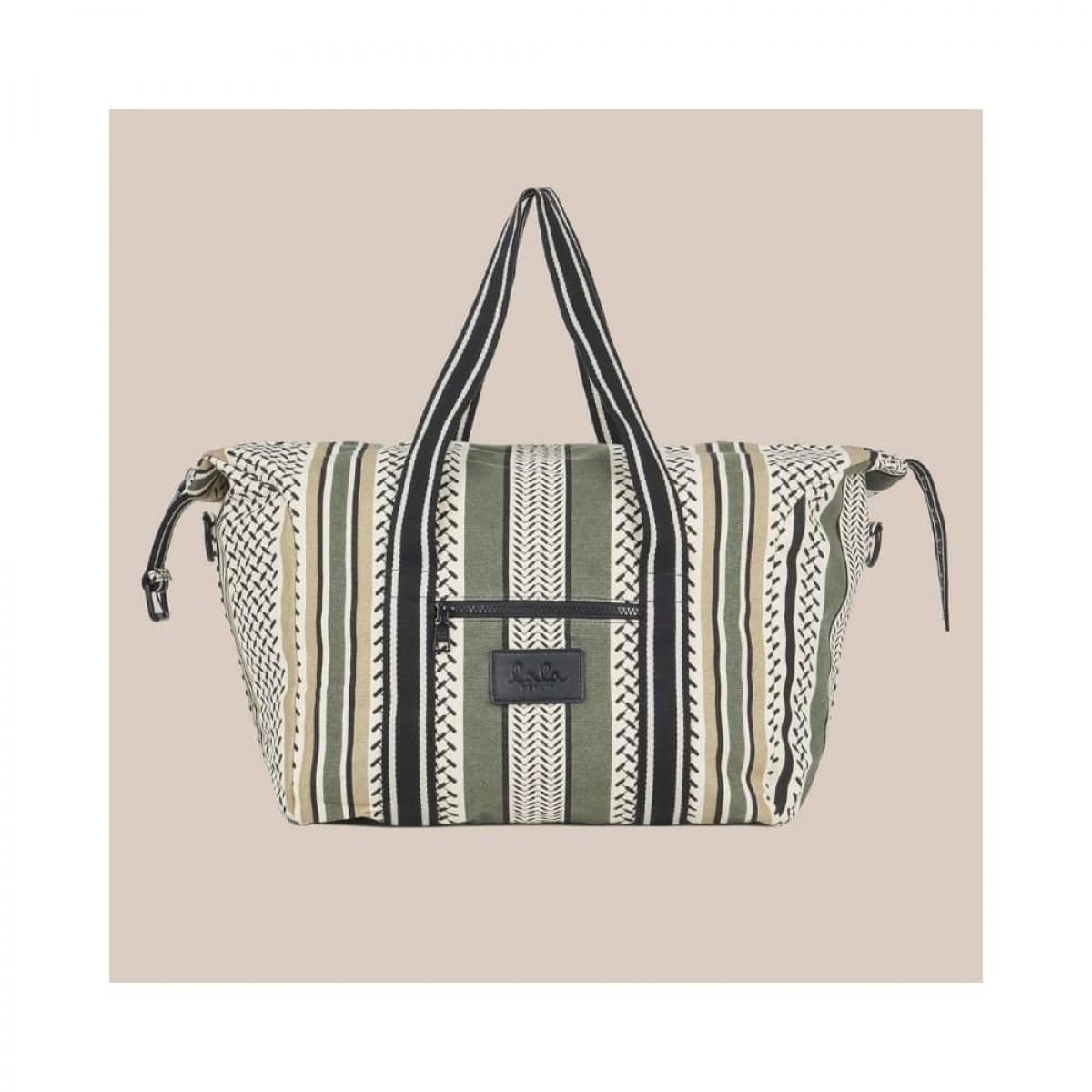 big bag muriel kufiya - olive/warm sand - front