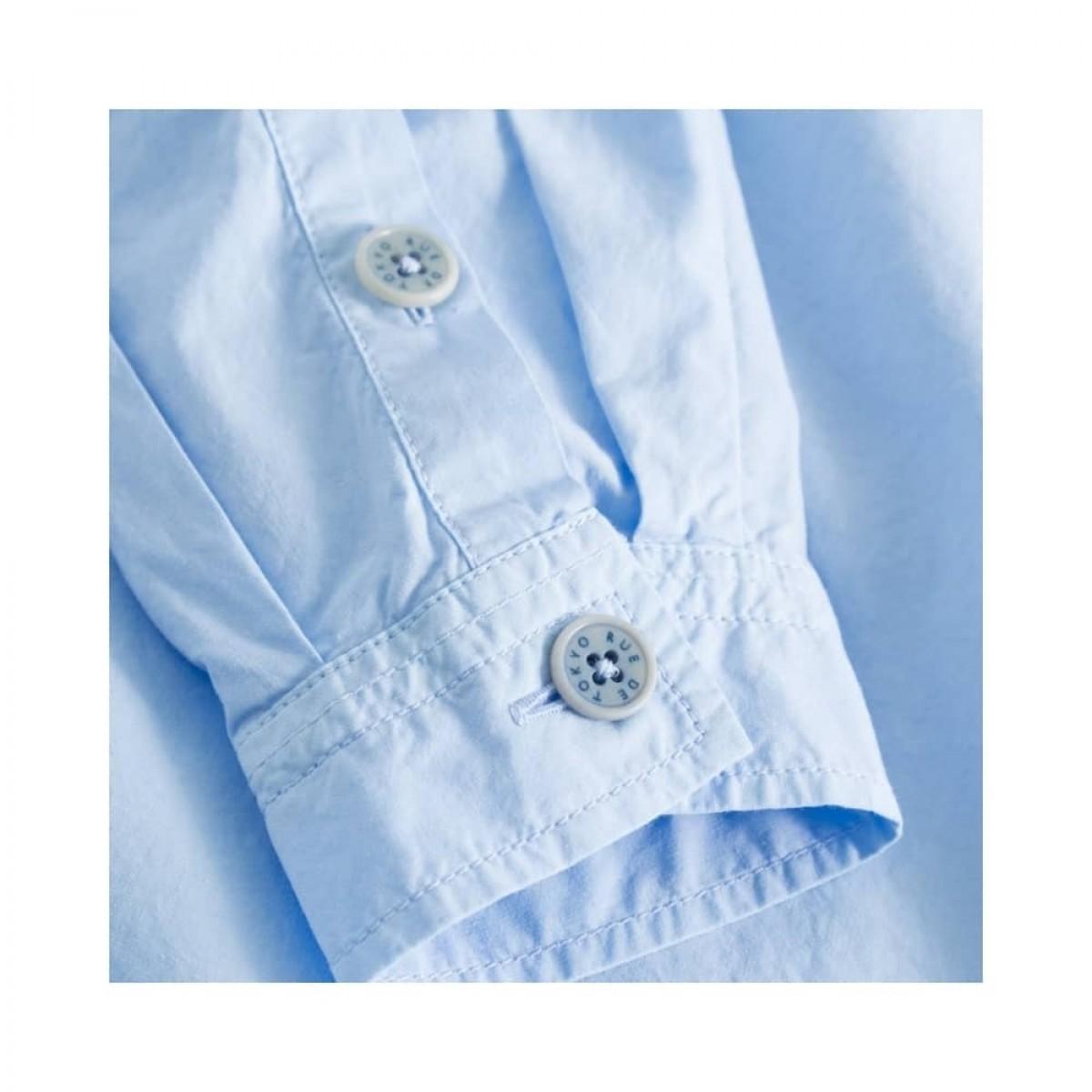 shiloh skjorte - light blue - knap detalje