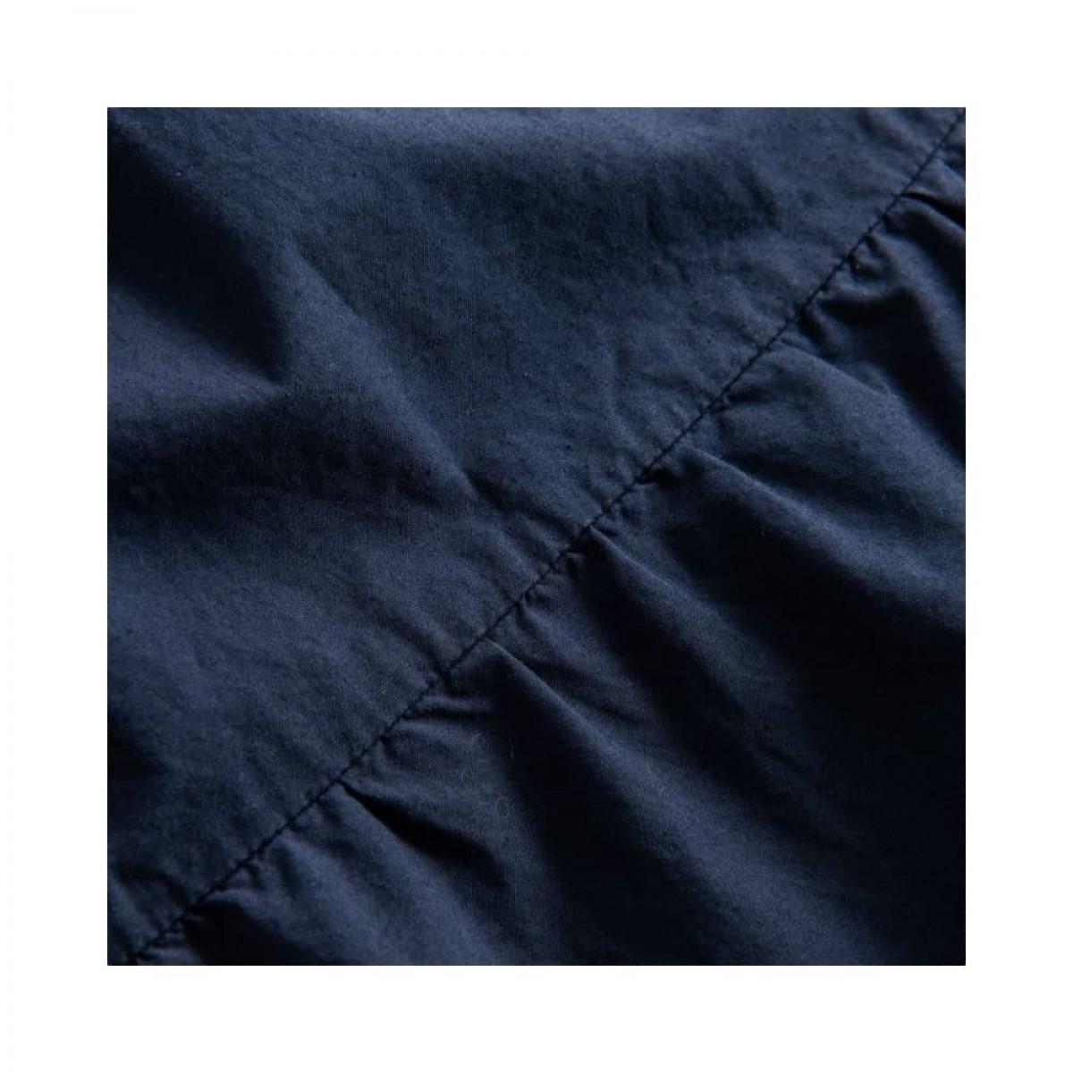 paprika nederdel - dark navy - skæring detalje