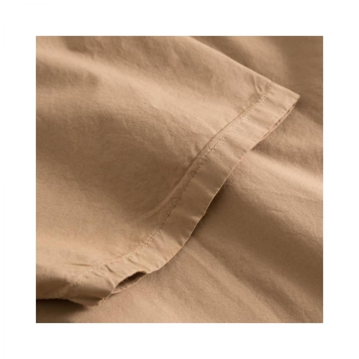 deluna kjole - light brown - kort ærme