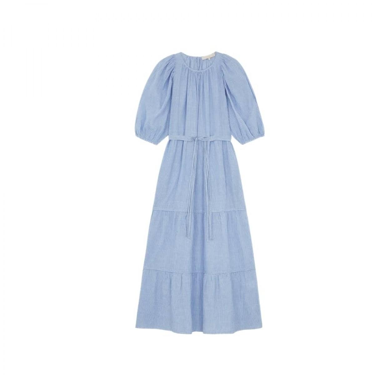 reinilda kjole - blue - front