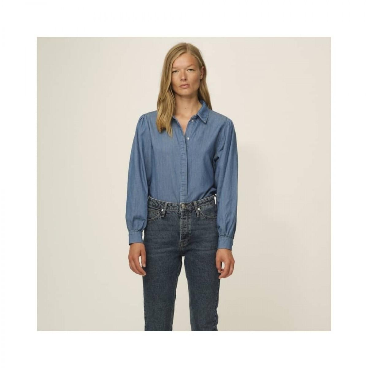 hepburn 70's skjorte - denim blue