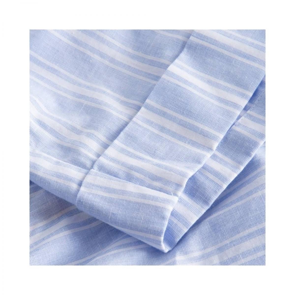 peony shorts - blue/white stripe - afslutning ved ben