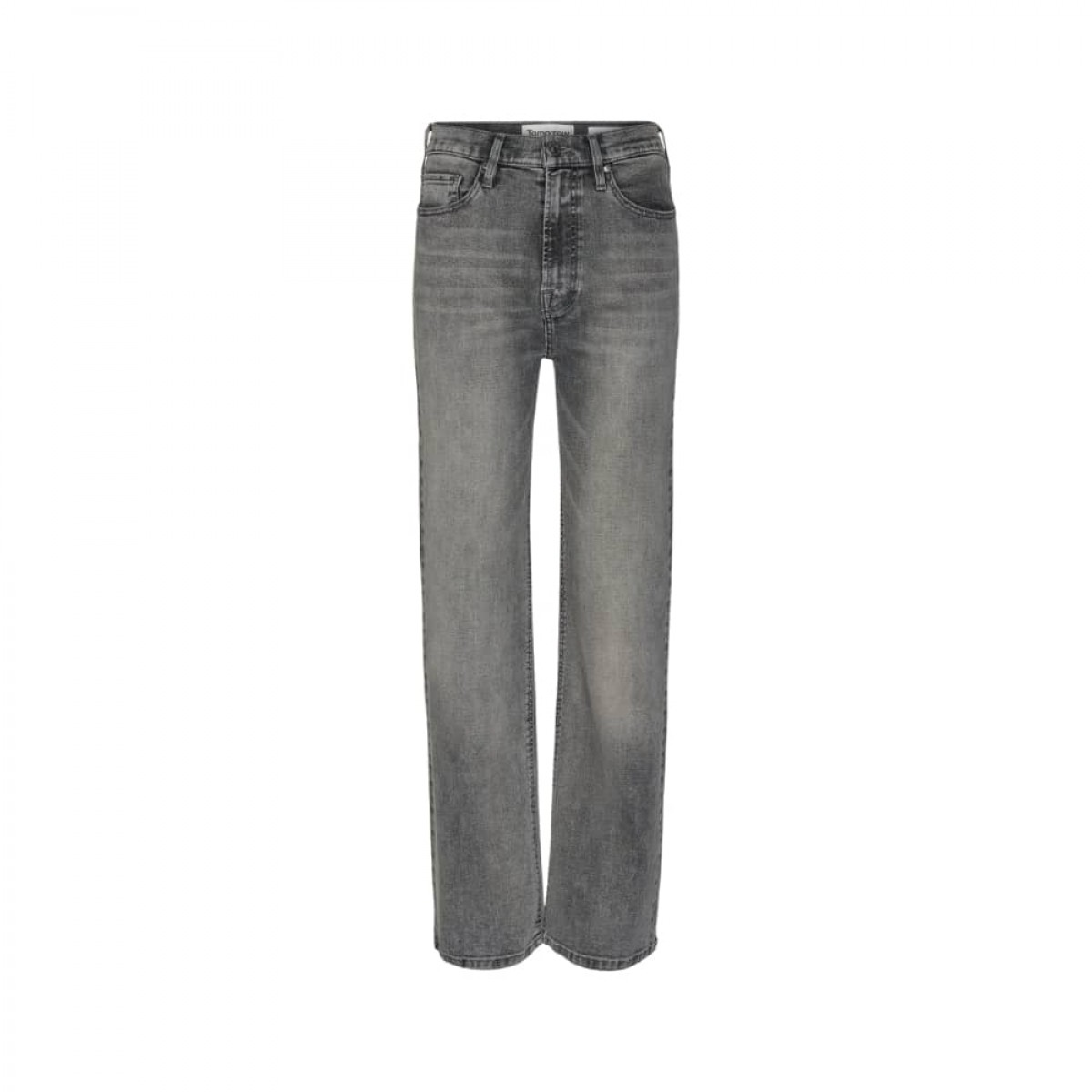 bowie hw cropped jeans - grey - front