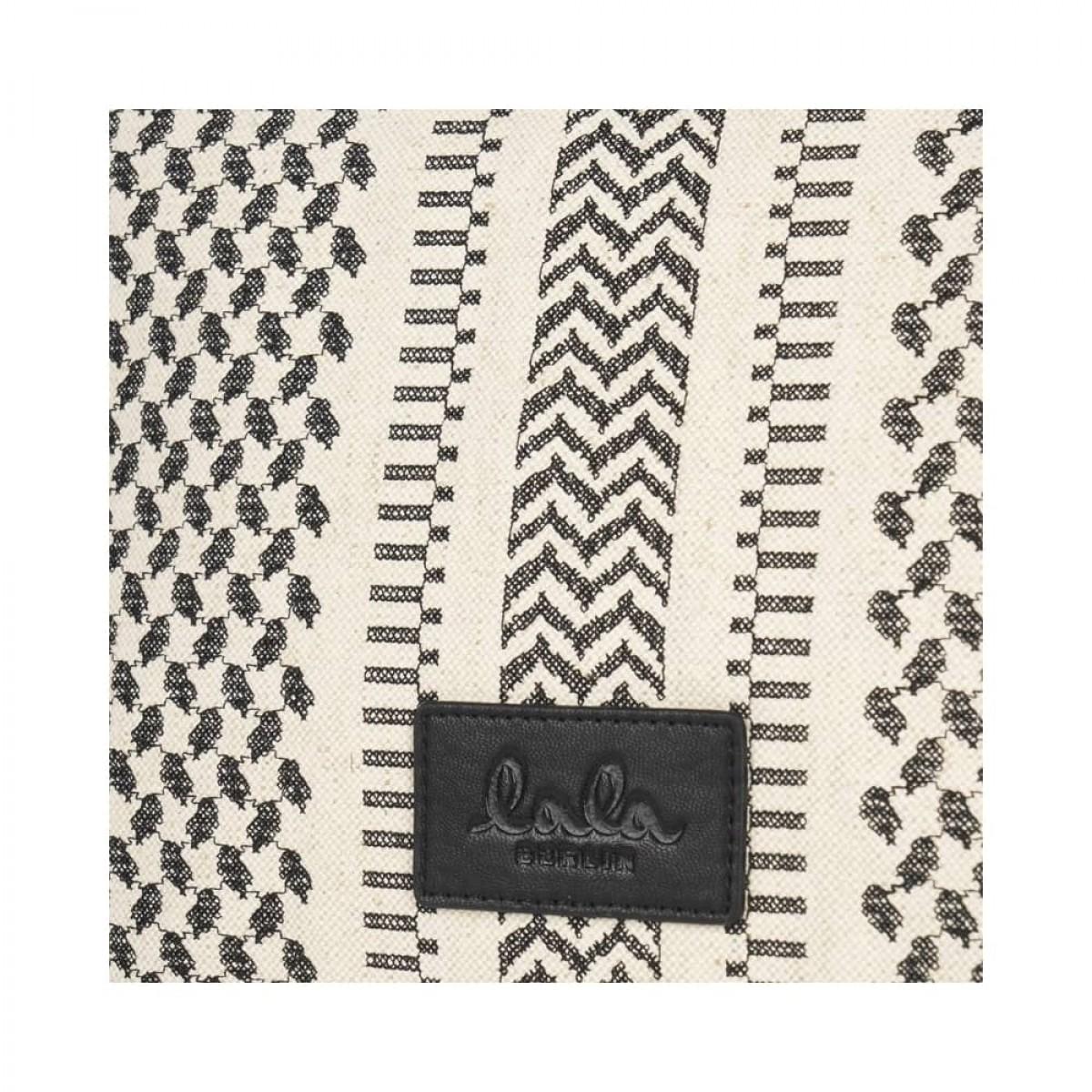 ew tote lauren x-stitch taske - black - logo detalje
