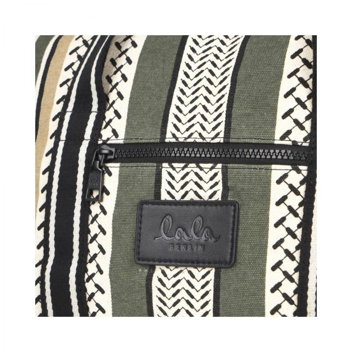 big bag muriel kufiya - olive/warm sand - logo