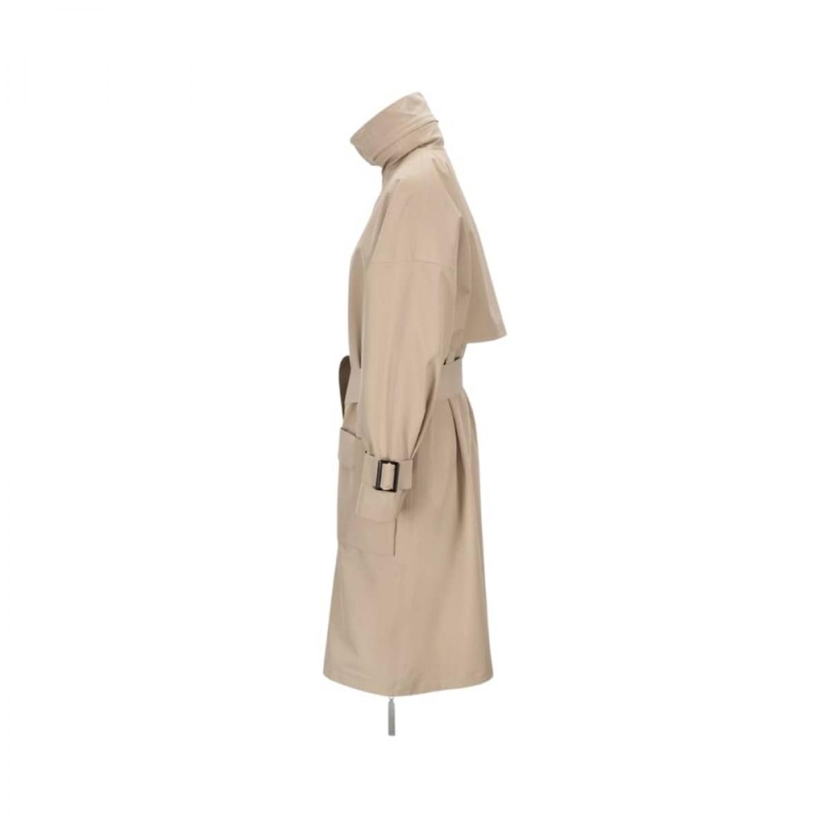 brosundet regn frakke - beige - fra siden