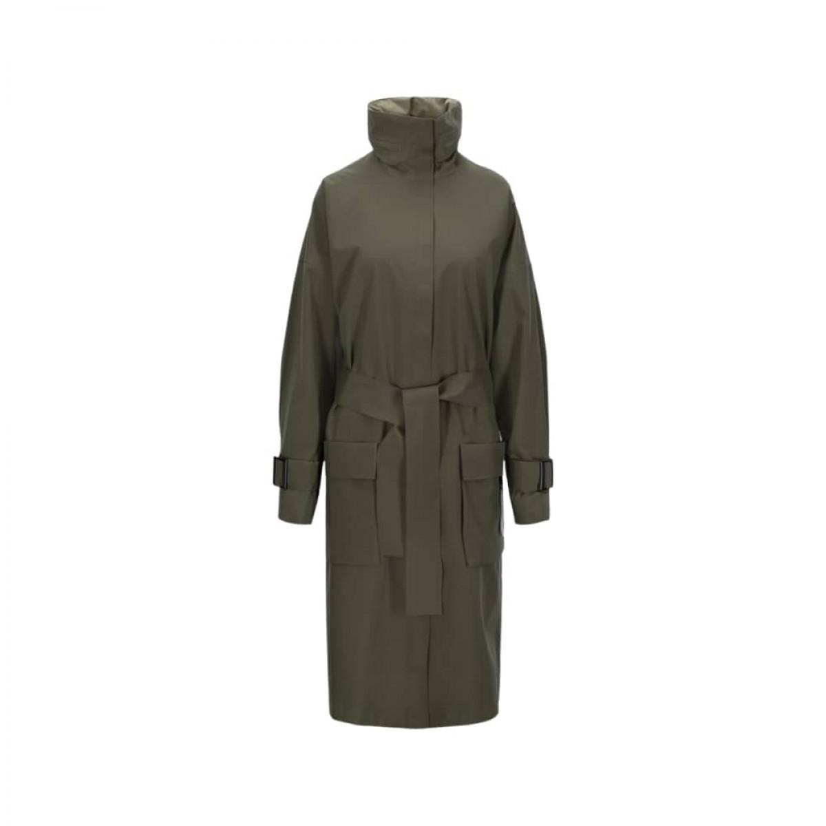 brosundet regn frakke - dark olive - front