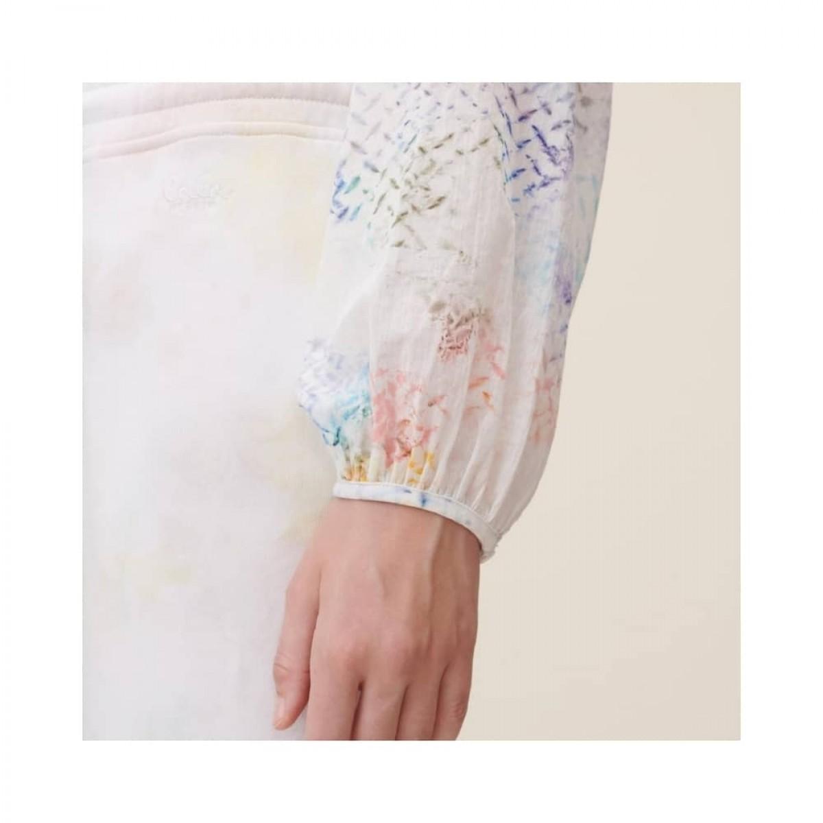 binia bluse - rainbow kufiya - ærme detalje